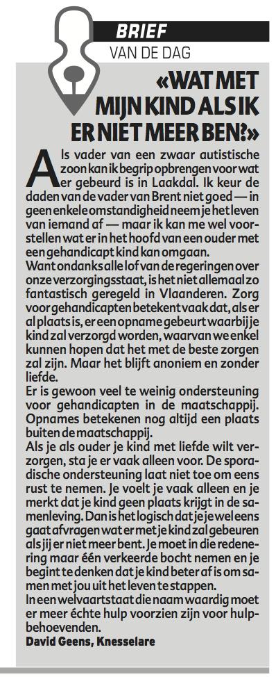 Verschenen in Het Laatste Nieuws op 25/10/13