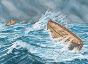 De Jaredieten op zee