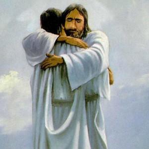 Een knuffel van Jezus Christus