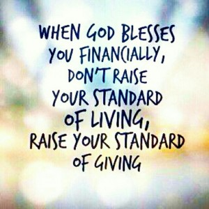 Raise your standard of giving