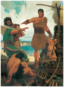 nephi en zijn morrende broers