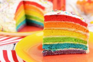 Zoveel lagen in een regenboogtaart